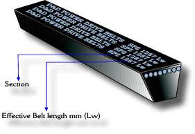 D/&D PowerDrive SPZ1800 V Belt  10 x 1800mm  Vbelt