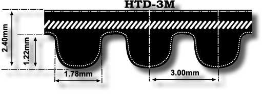 D/&D PowerDrive 1600-8M-50 Timing Belt